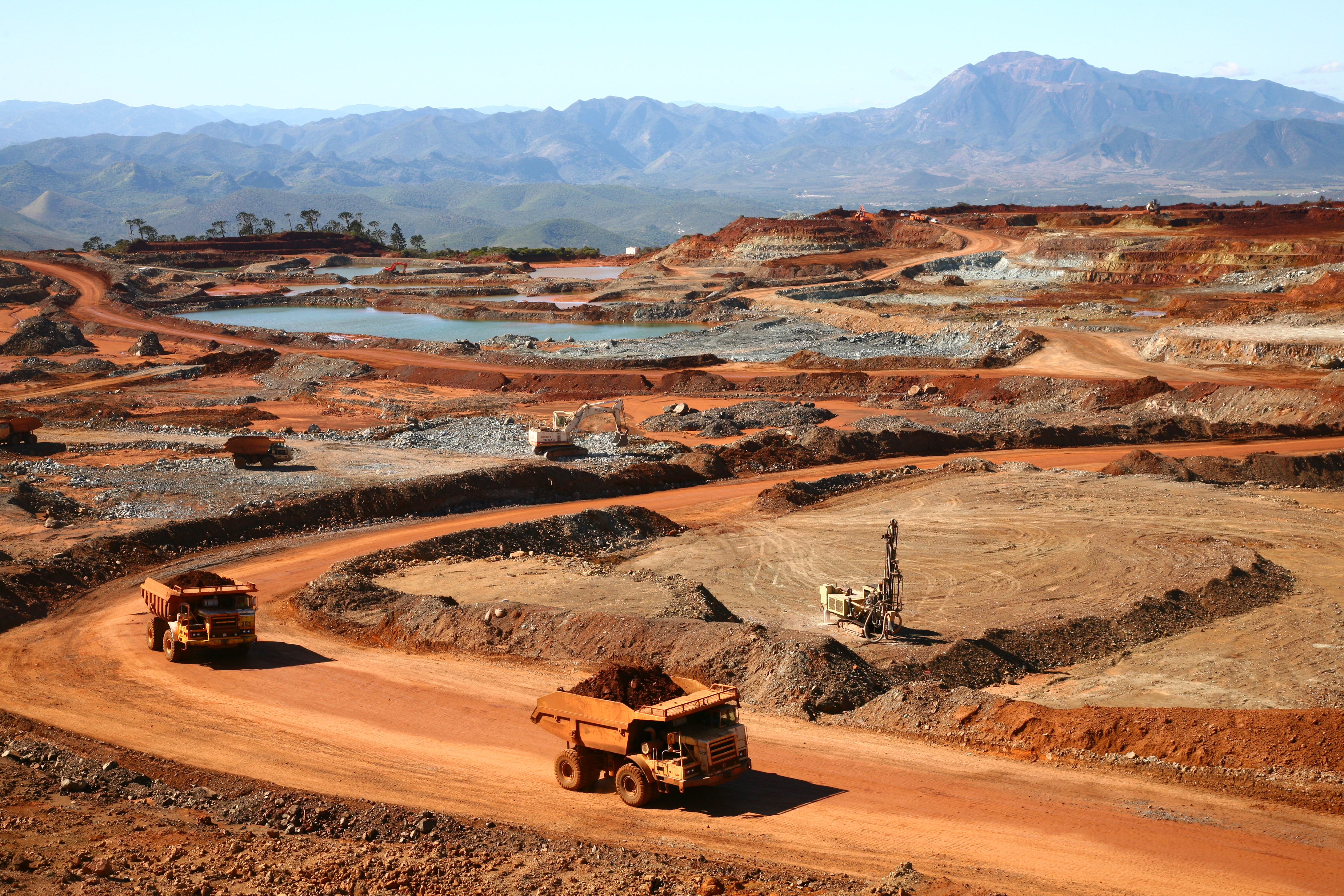 View of a mine of SLN, an Eramet Group's subsidiary in New Caledonia