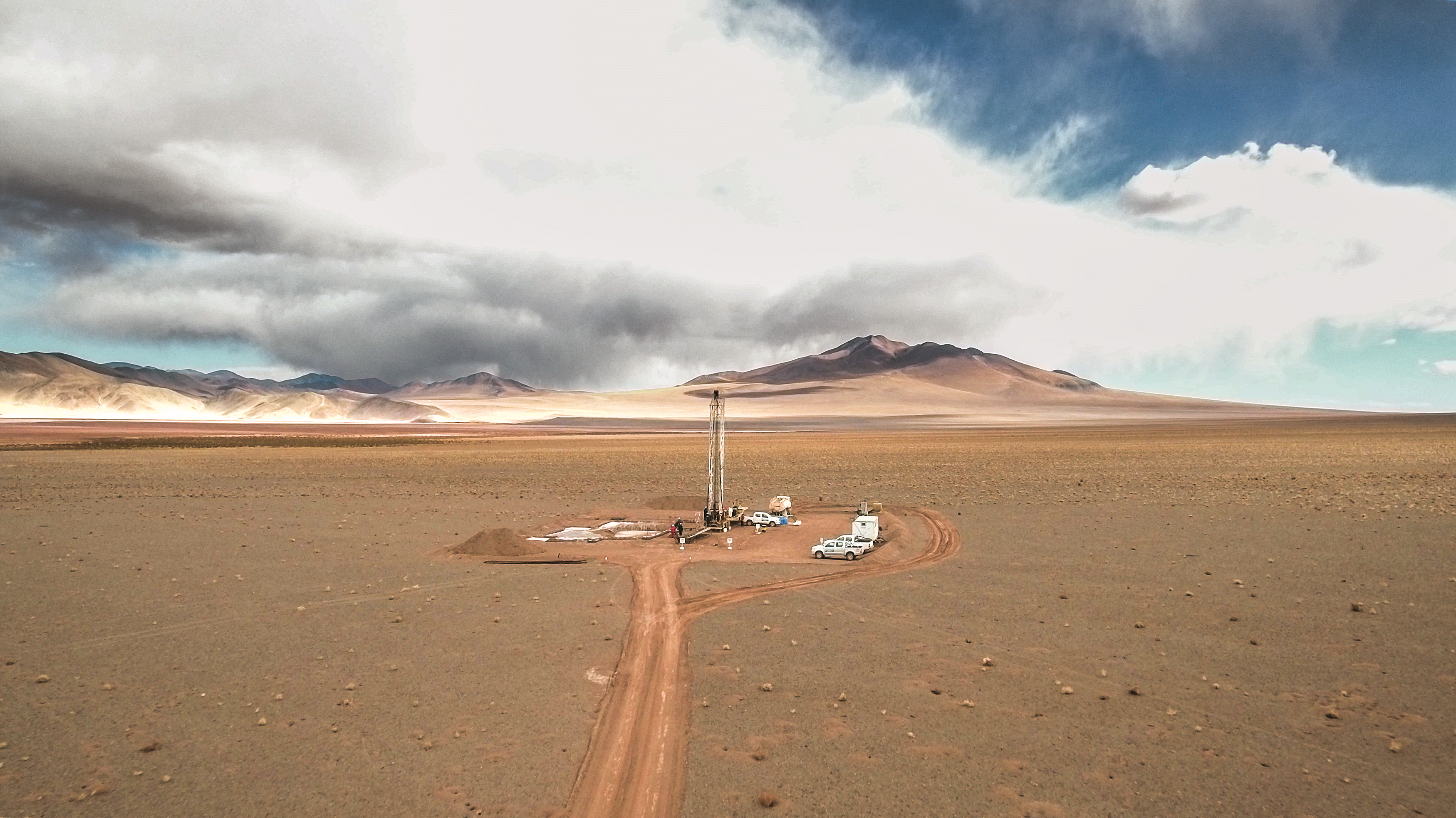 View of drilling operations for Eramet Group's Lithium project in Argentina