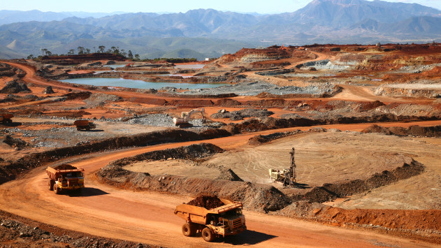 Tiebaghi's open pit mine - SLN, New-Caledonia