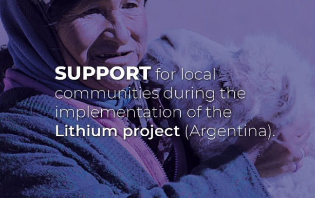 Support for local communities during the implementation of the Lithium project (Argentina)