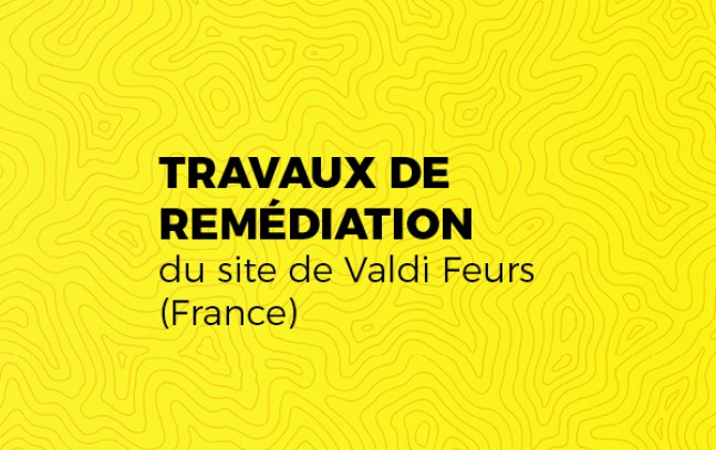 Travaux de remédiation du site de Valdi Feurs (France)