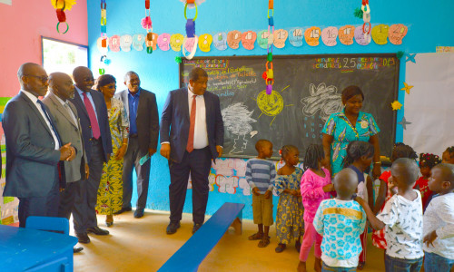 A school visit in Moanda