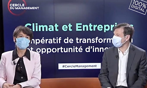 "Christel Bories, Chairman and CEO of Eramet, during ""Climate and Business – Transformation imperative and innovation opportunities"" round table"