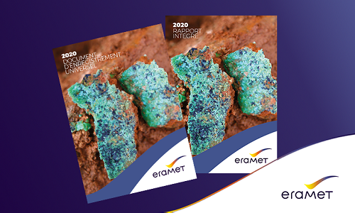 Covers of the Eramet Group's 2020 Universal Registration Document and Integrated report