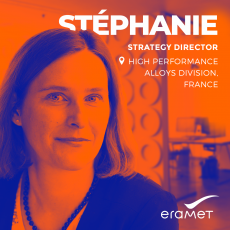 Portrait of Stéphanie, Strategy Director of our High Performance Alloys Division