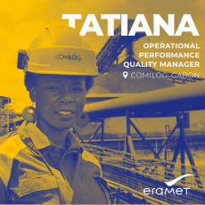 Portrait of Tatiana, Operational Performance Quality Manager at Comilog